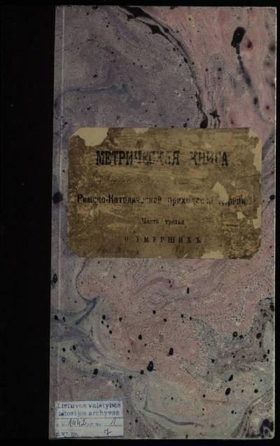 Punios RKB mirties metrikų knyga. 1895--1904 m.