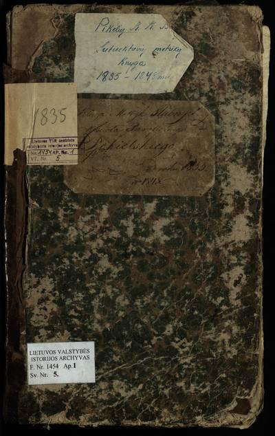 Pikelių RKB santuokos metrikų knyga. 1835--1848 m.