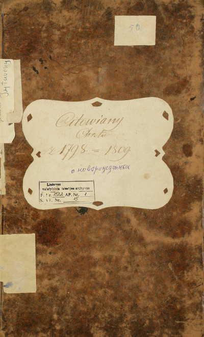 Tytuvėnų RKB gimimo metrikų knyga. 1798--1809 m.