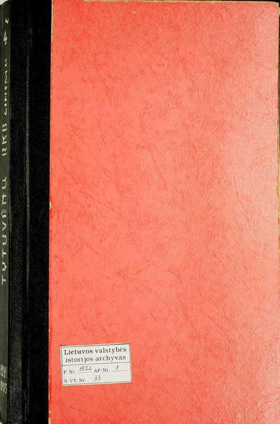 Tytuvėnų RKB gimimo metrikų knyga. 1891--1903 m.