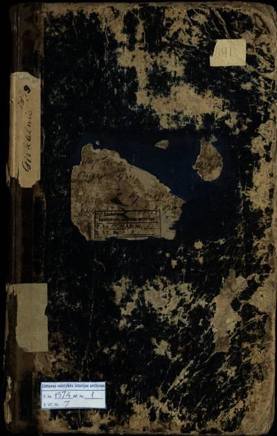 Girkalnio RKB gimimo metrikų knyga. 1849--1856 m.
