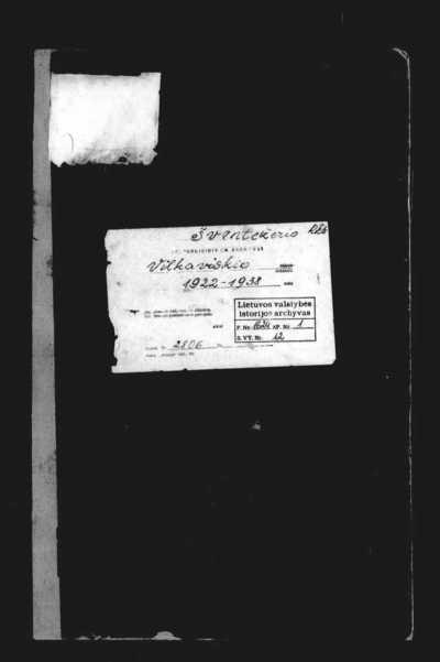 Šventežerio RKB mirties metrikų knyga. 1922--1938 m.