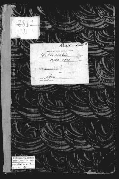 Rudaminos RKB mirties metrikų knyga. 1922--1938 m.