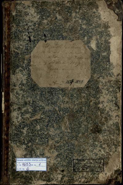 Debeikių RKB mirties metrikų knyga. 1827--1840 m.