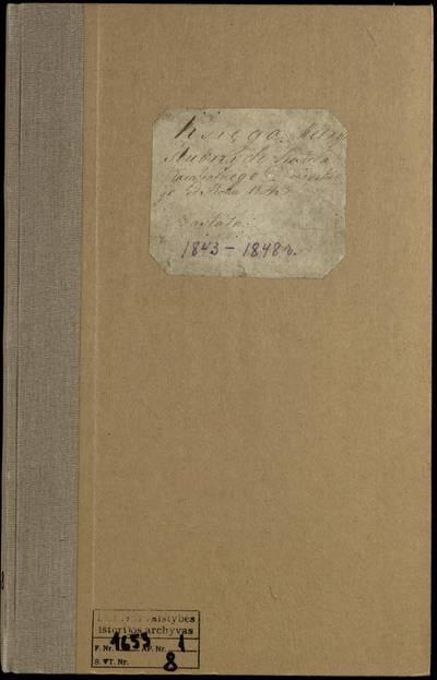 Debeikių RKB santuokos metrikų knyga. 1843--1848 m.