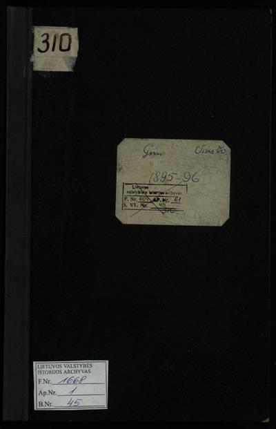 Vilniaus Visų Šventųjų RKB gimimo metrikų knyga. 1895--1896 m.
