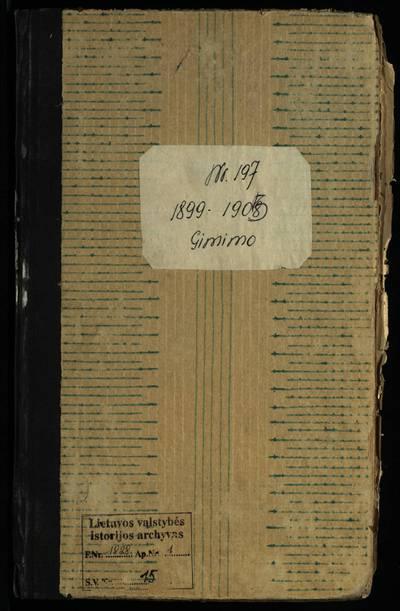 Rietavo RKB gimimo metrikų knyga. 1899--1905 m.