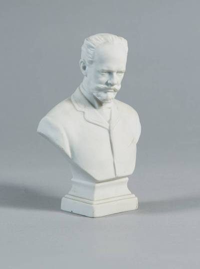 Nežinomas autorius. Gipso statulėlė – kompozitoriaus P. Čaikovskio gipsinis biustas