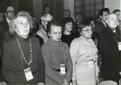 Sąjūdžio Biržų rajono konferencijos dalyvės. 1990-01-06