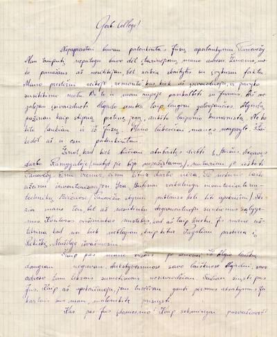 Kazio Petraičio laiškai Aldonai Karaliūtei. 1948