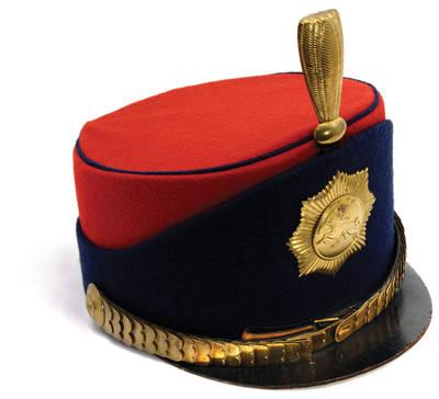 Policininko uniforminė kepurė