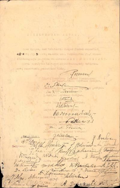 Iškilmingas Biržų muziejaus atidarymo aktas. 1928