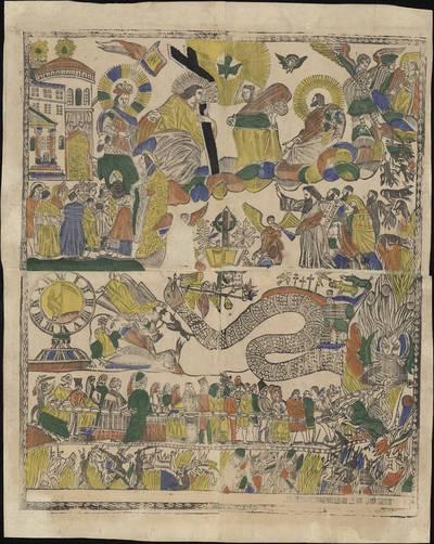Aleksandras Vinkus-Vitkauskas. Paskutinis teismas Juozapato slėnyje. 1800