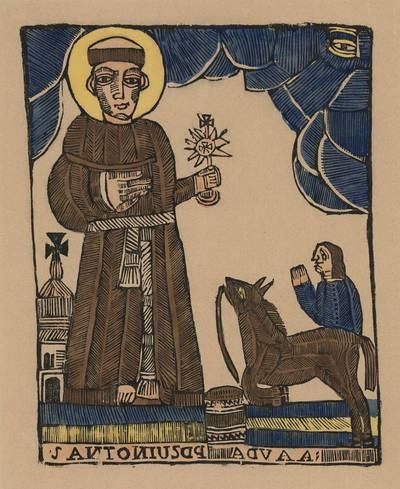 Šv. Antanas Paduvietis. 1800