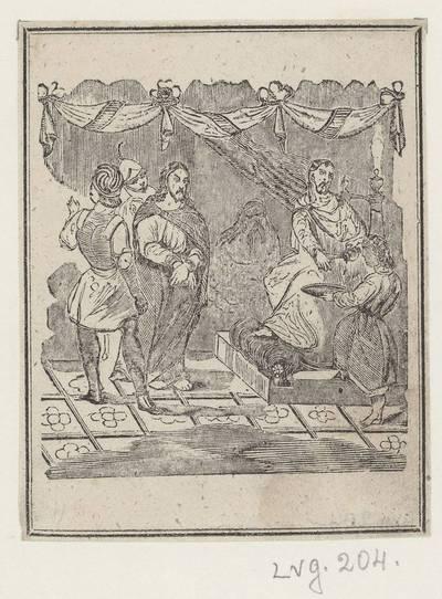 Kryžiaus kelio stotis: Pilotas Jėzų nuteisia mirti. 1800