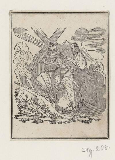Kryžiaus kelio stotis: Jėzus sutinka savo Motiną. 1800