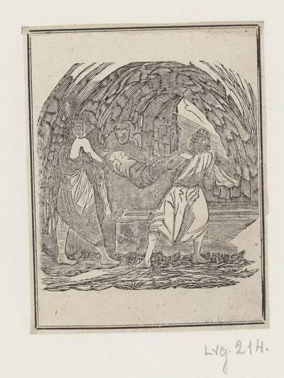 Kryžiaus kelio stotis: Jėzus laidojamas kape. 1800