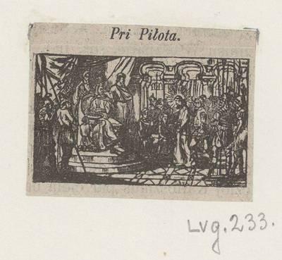 Kryžiaus kelio stotis: Jėzus pas Pilotą. 1800