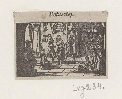 Kryžiaus kelio stotis: Rotušėje. 1800
