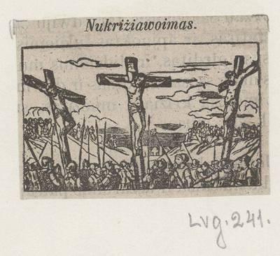 Kryžiaus kelio stotis: Nukryžiavimas. 1800