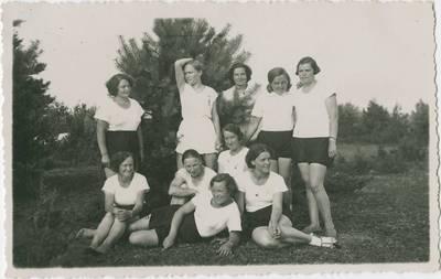Mokytojų tobulinimosi kursai. Sportiniai užsiėmimai. 1934