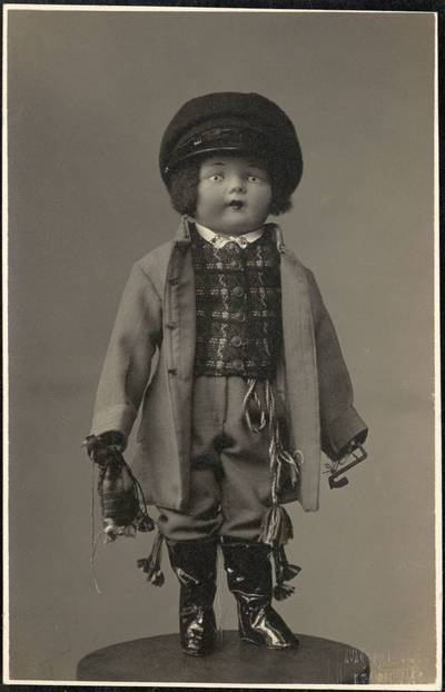 Šaulių moterų sąjungos parodai H. Ivanauskienės sukurta lėlė su lietuvių tautiniais rūbais. 1931