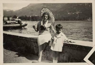 Gražina Matulaitytė-Rannit ir Stasys Lozoraitis jaunesnysis Italijoje. 1950