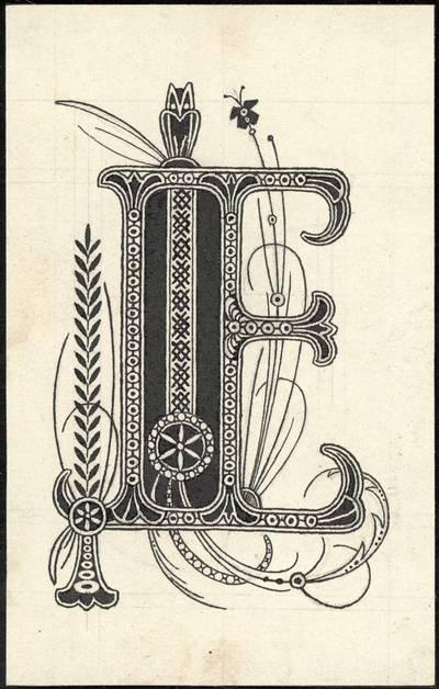 """Petras Rimša. Raidė """"E"""". 1919"""