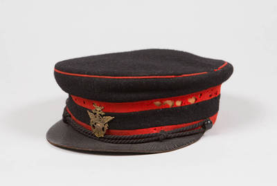 Uniforminė geležinkelių gaisrininko kepurė. 1920