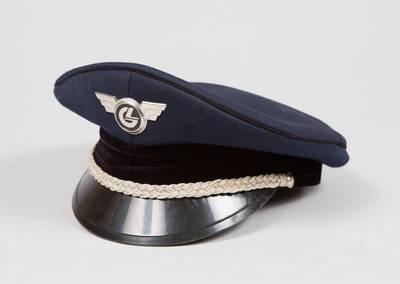 Lietuvos geležinkelių vyresniojo vadovaujančio personalo darbuotojo uniforminė kepurė. 1994