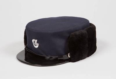 Lietuvos geležinkelių darbuotojo uniforminė žieminė kepurė