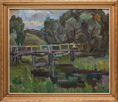 Peizažas su tiltu. - 1992