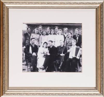 Pučelių vestuvės Baikelių k., N. Daugėliškio sen. - 1950