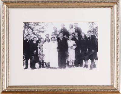 Stasys ir Stasė Paulavičiai iš Mažėnų k., N. Daugėliškio sen. - 1950