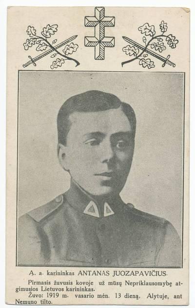 Nežinomas autorius. Antanas Juozapavičius. 1920