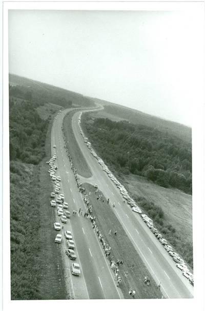 Nežinomas autorius. Baltijos kelias, Lietuva. 1989-08-23