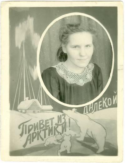 Nežinomas autorius. Tremtinė Milda Rapkauskaitė. 1951