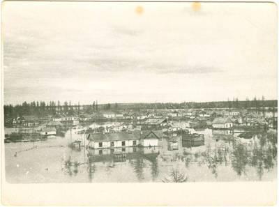 Nežinomas autorius. Pečioros lagerių barakai. 1947