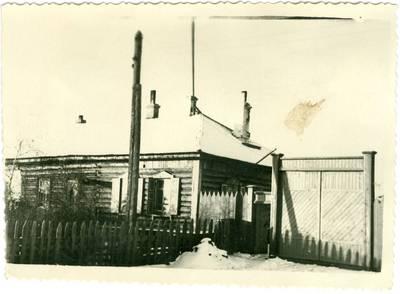 Nežinomas autorius. Tremtinių Jurgio ir Marcelės Keblerių namas Jakutske. 1958