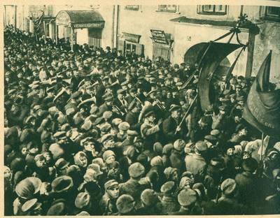 Nežinomas autorius. Manifestacija Kaune Anglijai pripažinus de facto Lietuvos valstybę. 1919 m. 1919