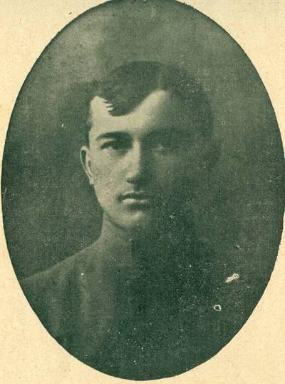 Nežinomas autorius. Karininkas Jonas Nastopka, kuris žuvo 1919 m. kovose už Lietuvos nepriklausomybę. 1919