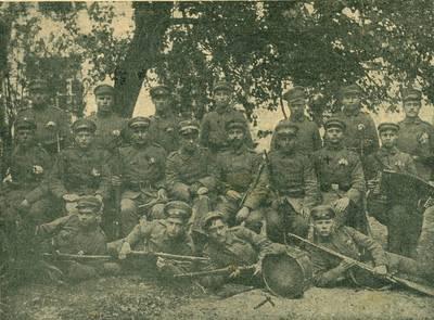 Nežinomas autorius. Pirmųjų kautynių dėl Lietuvos nepriklausomybės dalyviai, kovoję Kėdainių apskrityje. 1925