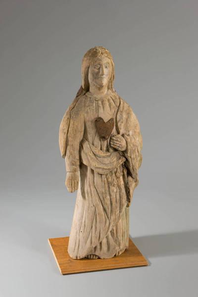 Nežinomas liaudies skulptorius. Šv. Mergelė Marija Skausmingoji. 1925