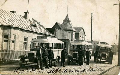 Nežinomas fotografas. Kauno miesto autobusai. 1932-10-30