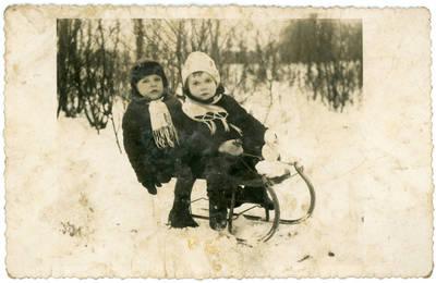 Nežinomas fotografas. Vaikai žiemą. 1934-02-02