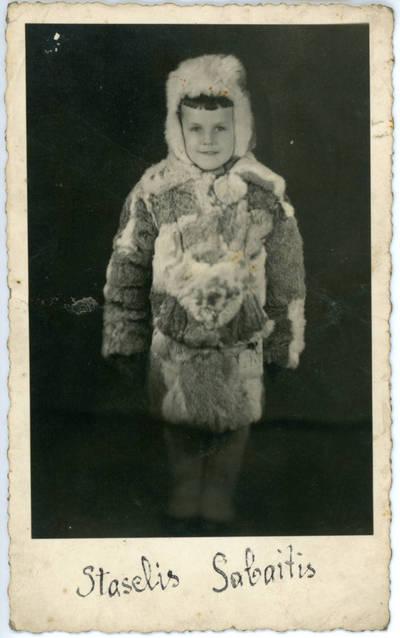 Nežinomas fotografas. Vaiko portretas. 1950