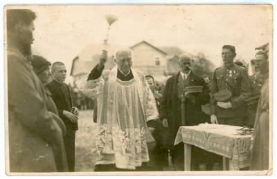 I. Rukas. Kelmės šaulių būrio namų pašventinimas 1932 metais. 1932-09-18