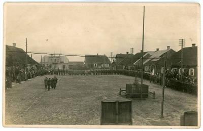 I. Rukas. Kelmės šaulių būrio namų atidarymas 1932 metais. 1932-09-18