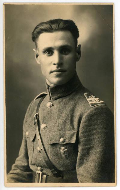 Nežinomas fotografas. Graužikų grandies šaulys Mikas Dūdėnas 1929 metais. 1929-09-30