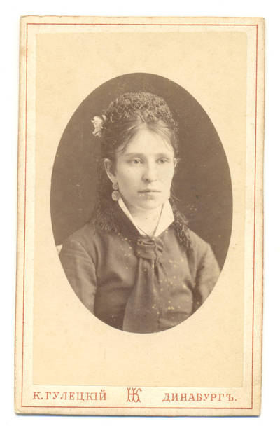 K. Huleckis. Moters portretas. 1900